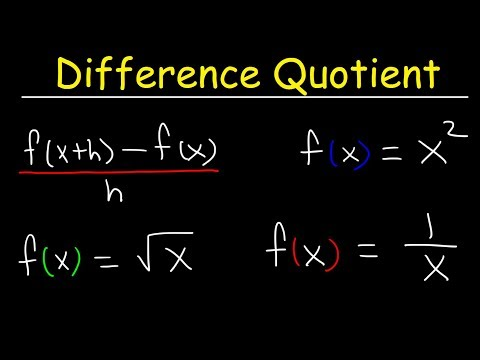 Difference Quotient
