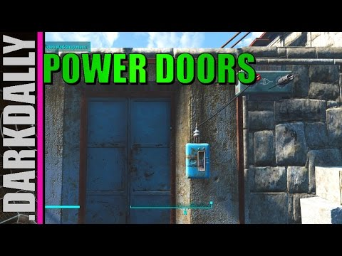 FALLOUT 4 - Simple Power Doors w/ Logic Gate Switch How To (viewer request)