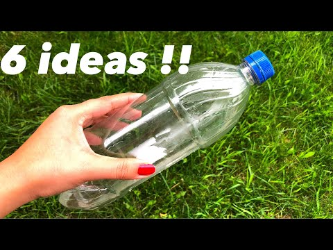 Plastic bottle crafts !! 6 ideas to reuse waste plastic bottles - Best out of waste