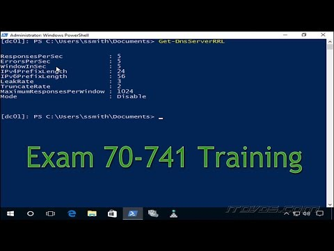 Exam 70-741 - Configuring DNS Response Rate Limiting