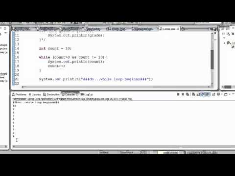 Java Programming - Loops and conditionals