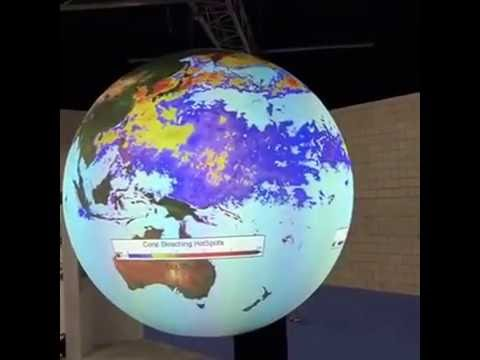 Science on a Sphere: Coral Bleaching