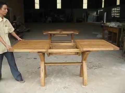 1.3 - 1.8m Butterfly Extending X Leg Country Oak Table