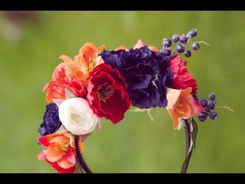 DIY flower headband tutorial, flower crown super easy, fake flower