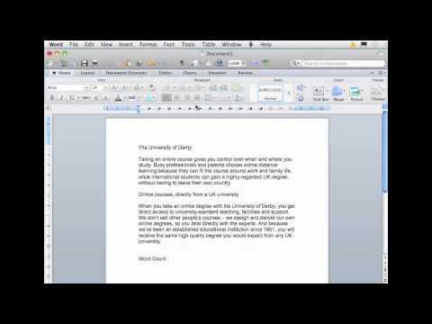 Word Processing - Adding a Word Count