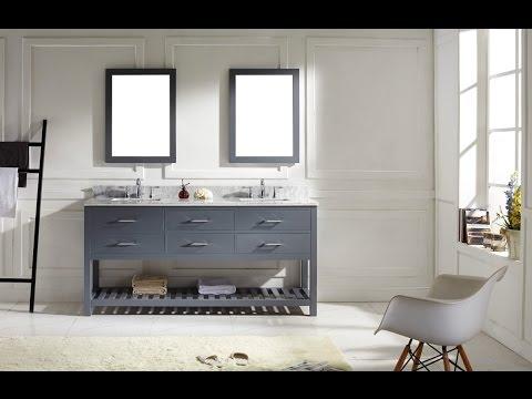 Likeable Open Shelf Bathroom Vanity Design Ideas