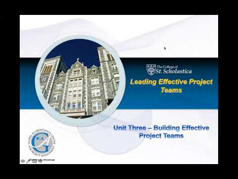 Unit Three   Building Effective Project Teams