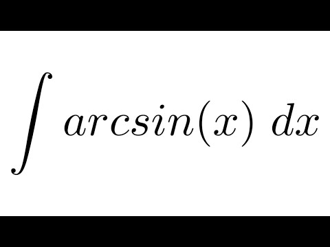 Integral of arcsin(x) (by parts)