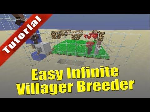Minecraft - Tutorial: Easy Infinite Villager Breeder