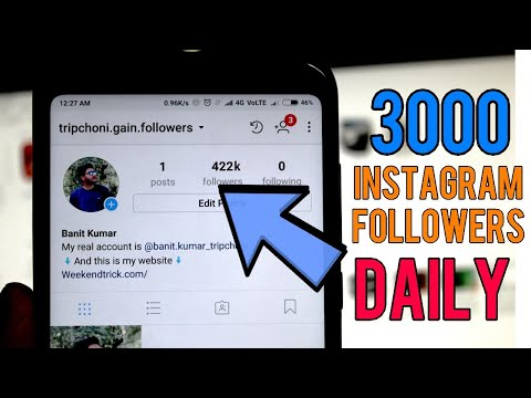 Get 3000 instagram followers DAILY | 1 click = 100 followers