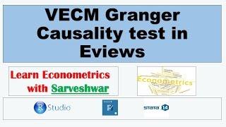 VAR Granger Causality test in R Studio - PakVim net HD