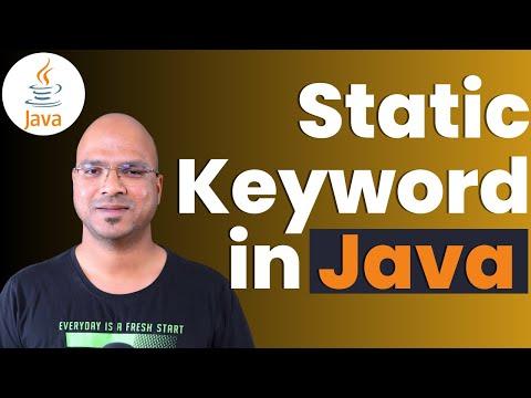 #4.6 Java Tutorial | Static Keyword