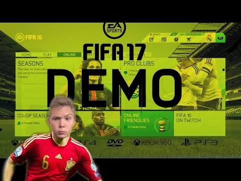HOW TO PLAY FIFA 17 DEMO ONLINE AGAINST FRIENDS - PS4