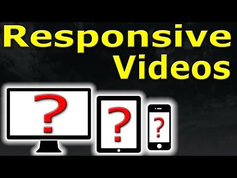 2 MIN TUTORIAL - Responsive Videos - SIMPLE EASY