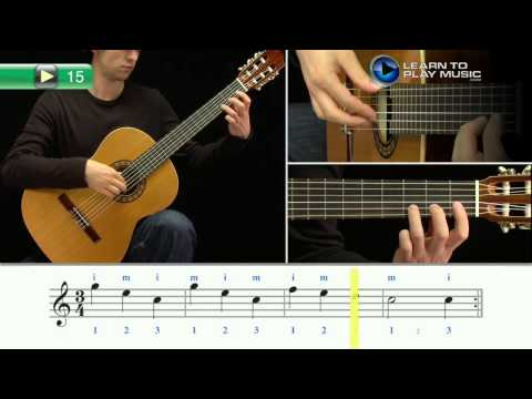 Ex015 How to Play Classical Guitar for Kids - Classical Guitar Lessons for Kids Book 1