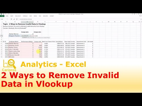 2 Ways to Remove Invalid Data in Vlookup