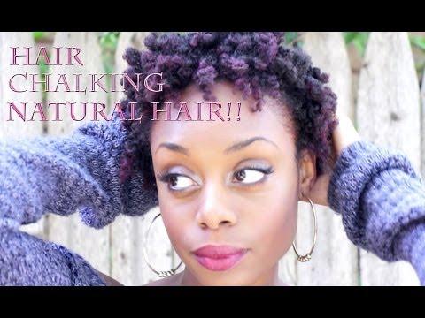 Hair Chalking 4b/4c Natural Hair
