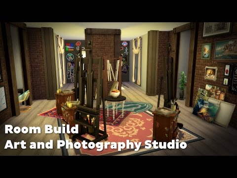 The Sims 4: Room Build - Art and Photography Studio