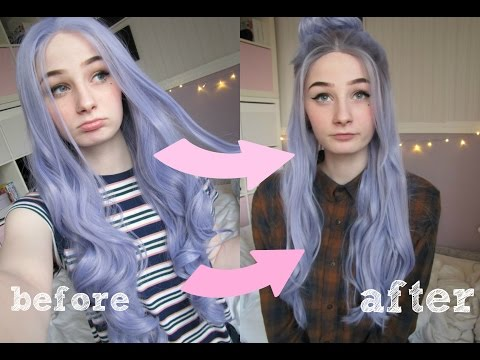 HOW TO make wigs look natural: Cutting, Plug the Hairline, Add Roots, Styling - Trendy Wigs Review