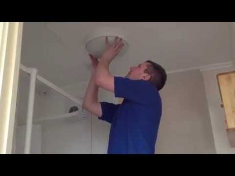 How to change a bathroom light