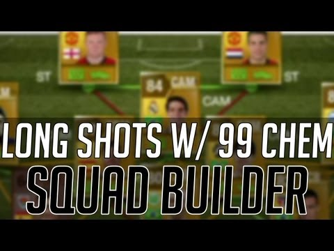 THE LONG SHOT SQUAD w/ 99 CHEMISTRY | FIFA 13 Ultimate Team Squad Builder (FUT) Best Teams