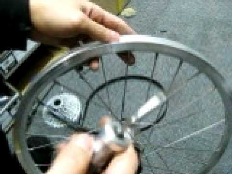 Removing spokes from a bicycle wheel Video created by Downtube.com