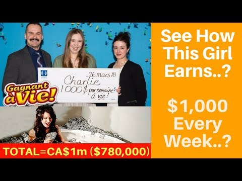 Charlie Lagarde Wins Lottery : 18-year-old Canadian wins $1G a week for life, Lottery Winners