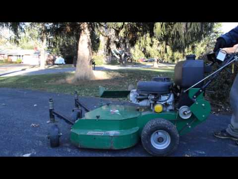 Equipment Review - Bobcat 36in Walk Behind Mower with Demonstration