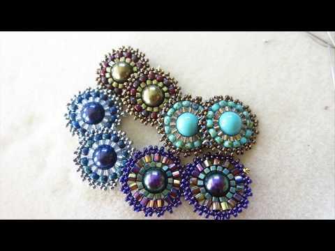 Swarovski Pearl Brick Stitch Earrings