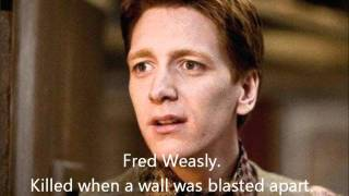 Tribute to everyone who died in Harry Potter