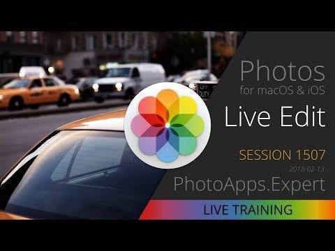 Apple Photos; LIVE EDIT —PhotoApps.Expert Live Training 1507 SAMPLE