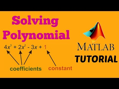 How to solve Polynomials on MATLAB