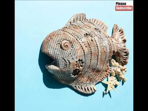 Ceramic Fish Sculptures | Picture Set Beautiful Decorative Handwork