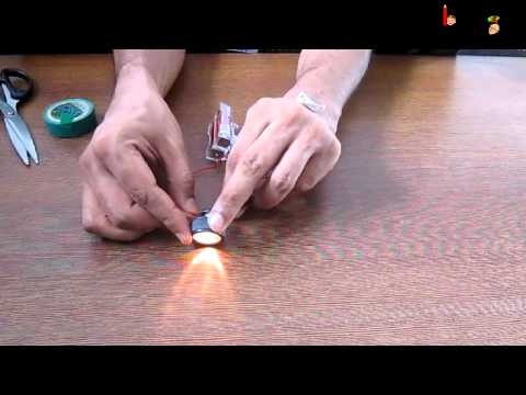 Science - Electricity - Experiment with torch and circuit - English