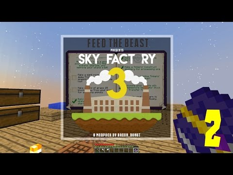 FTB Presents: Sky Factory 3! - Tinkers' Construct Smeltery! - Modded Minecraft 1.10.2