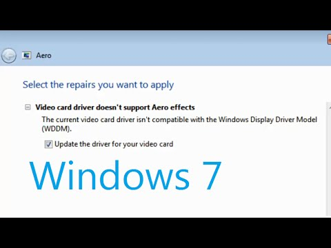 video card driver doesn't support Aero effects / isn't compatible with WDDM Windows 7 Fix
