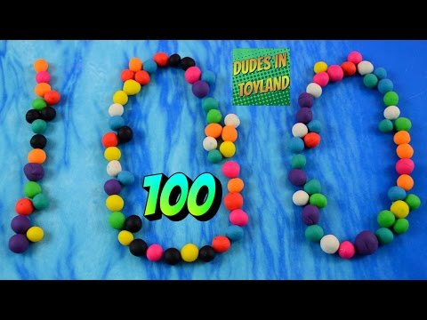 Counting to 100 songs for kindergarten Play Doh 123 numbers learning videos