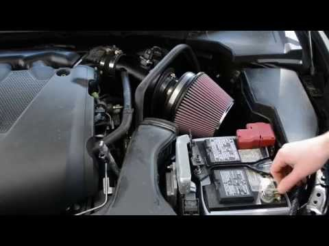 K&N cold air intake installation on 2014 Nissan Maxima