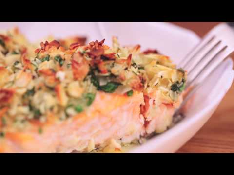 Almond crusted baked salmon