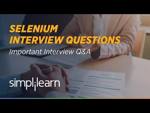 Selenium Interview Questions and Answers | Selenium Tutorial | Selenium Training | Simplilearn