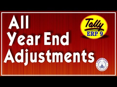 Adjustment Entries in Tally ERP 9 Part-92|Learn Tally ERP 9