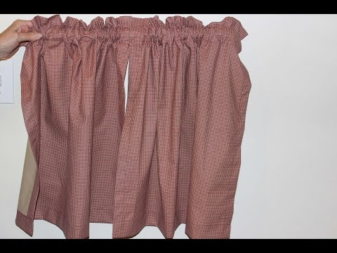How to sew a kitchen curtains
