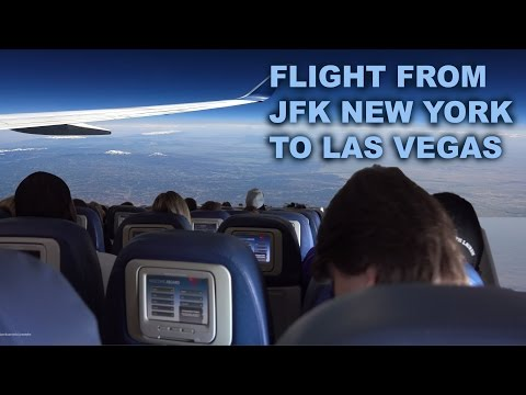 My Flight to Las Vegas from New York - Boeing 737 , Delta Airlines 4K