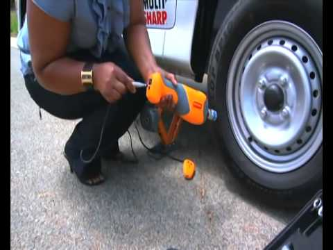 Change Your Car Tyre In 60secs.With Remote Control Electric Car Jack,Electric WheelSpanner &Air pump