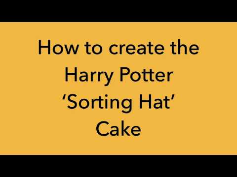 Harry Potter Sorting Hat cake, how to create