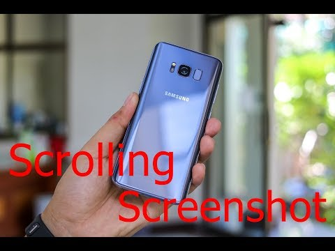 How to Take a Scrolling Screenshot on Samsung Galaxy Phones: Galaxy S9, Note 8, S8