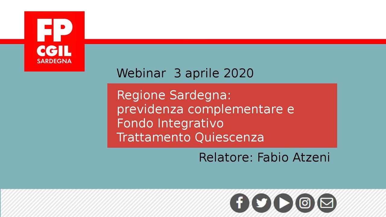 Regione Sardegna: previdenza complementare e FITQ (Fondo Integrativo Trattamento Quiescenza)