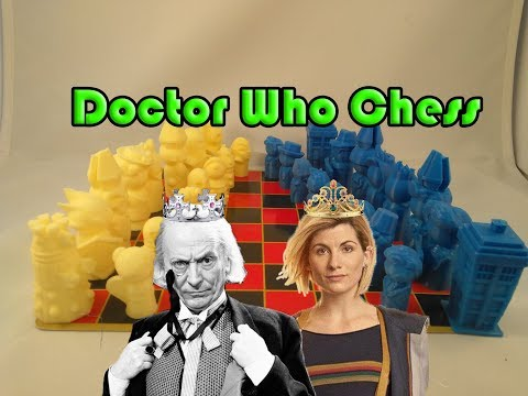 3D Printed Doctor Who Chess Set