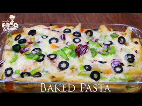 How To Make Baked Pasta || Baked Pasta Recipe || Baked Penne Pasta || Cheesy Pizza Pasta Bake Recipe