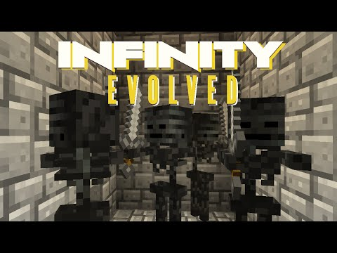 Minecraft Mods FTB Infinity Evolved - WITHER SKELETON FARM [E20